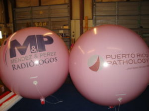 custom big helium balloons pink color